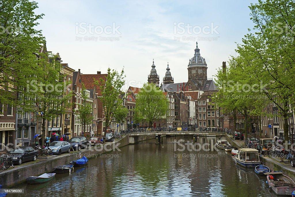 Church of St Nicholas,  Amsterdam, Netherland royalty-free stock photo