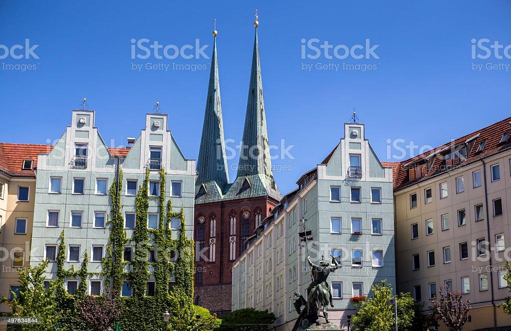 Church of St. Nicholas in Berlin. Located in Nikolaiviertel stock photo