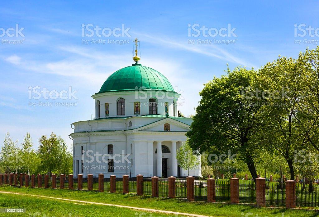 Church of St. Nicholas in Dykanka stock photo