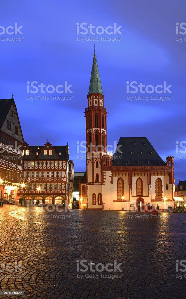Church of St. Nicholas (Nikolaikirche) in Frankfurt am Main. Germany stock photo