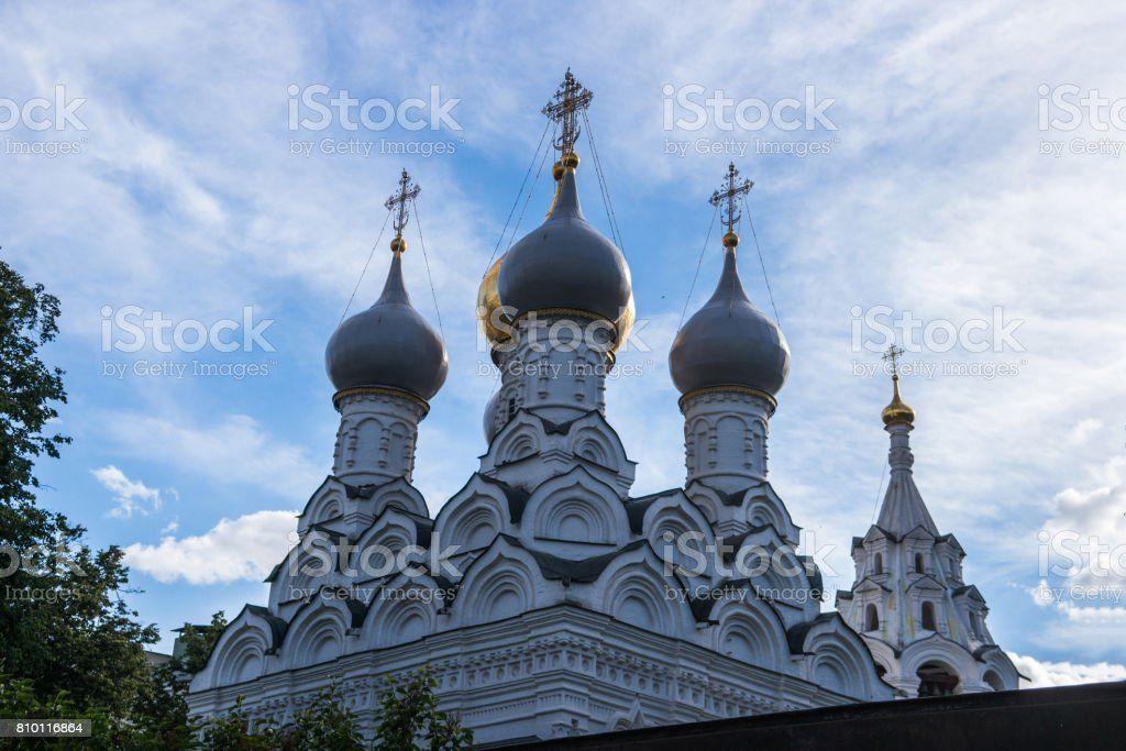Church of St. Nicholas of Pyzhi in Moscow, Russia stock photo