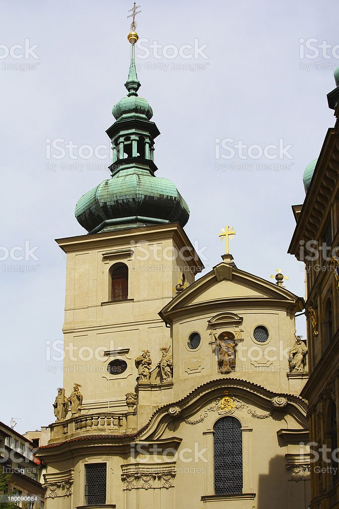 Church of St. Nicholas. Old Town Square, Prague royalty-free stock photo