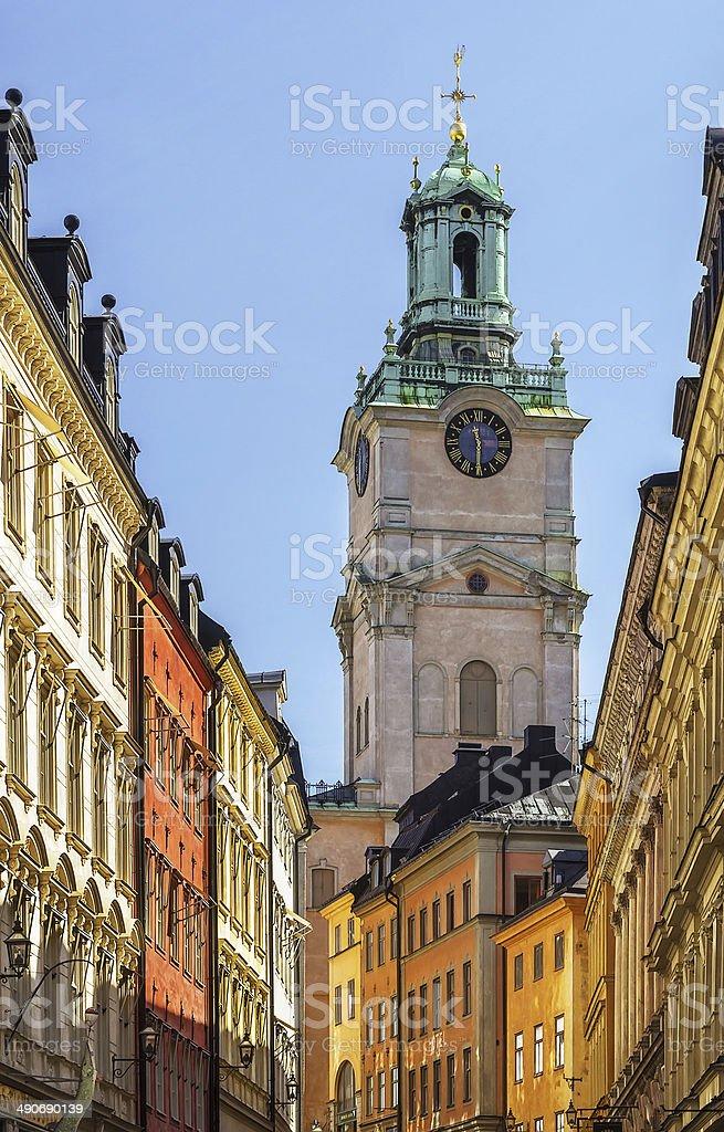 Church of St. Nicholas, Stockholm stock photo