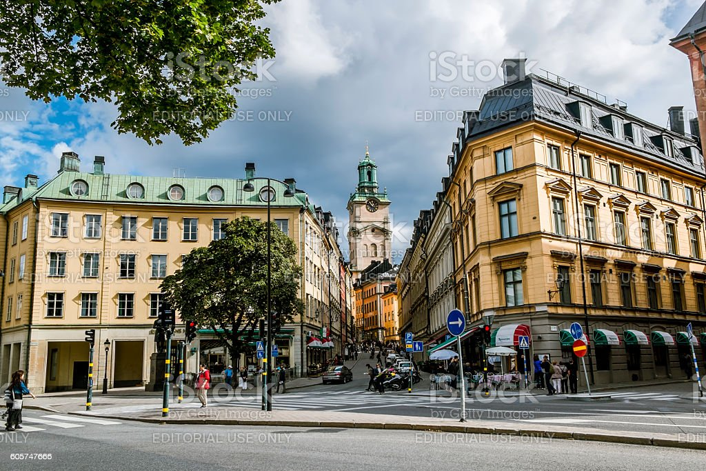 Church of St. Nicholas the Cathedral of Stockholm stock photo