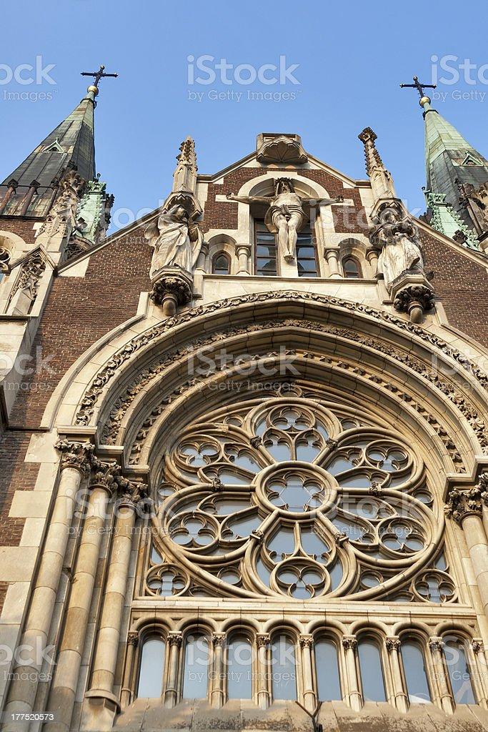 Church of St. Olha and Elizabeth, Lviv royalty-free stock photo