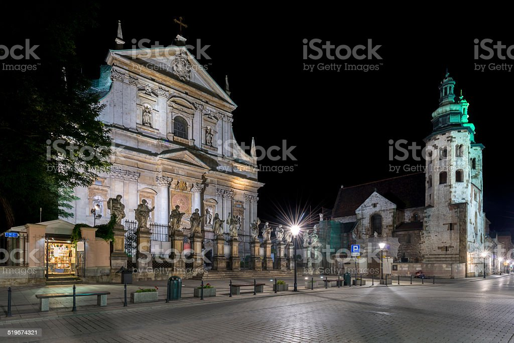 Church of St. Peter and Paul in Krakow, stock photo