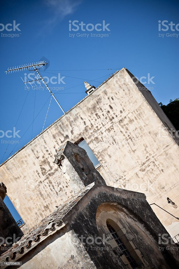 Church of St. Peter in Otranto, the bell tower stock photo