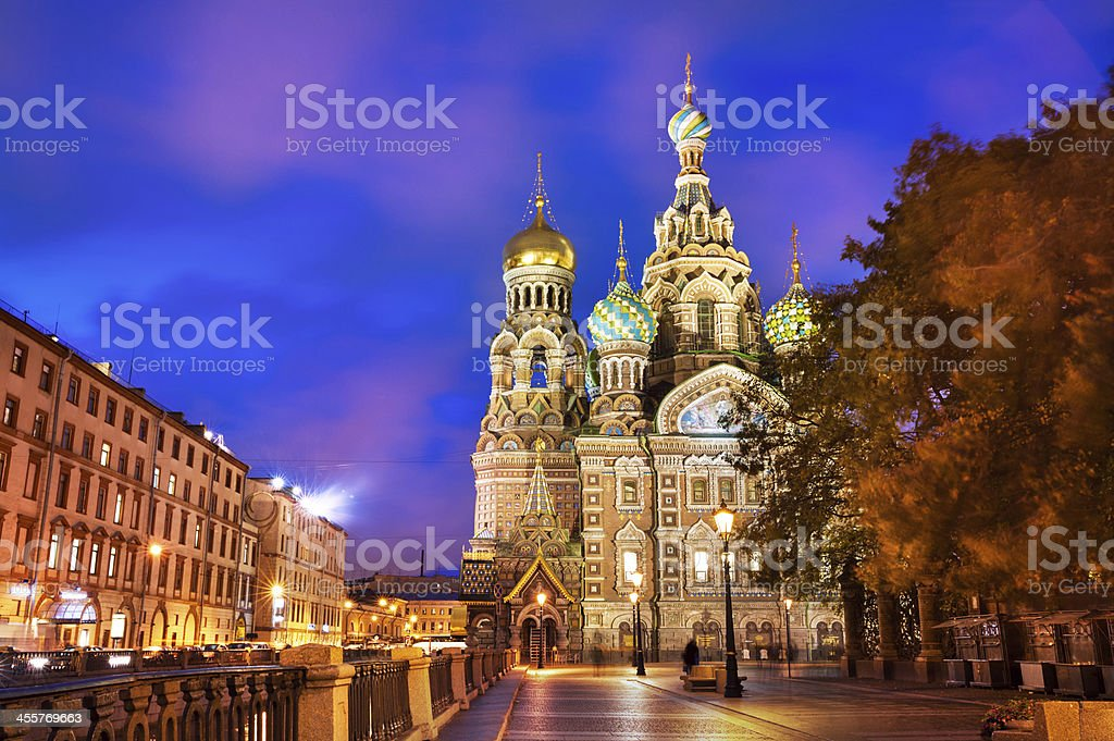 Church of St. Petersburg, Russia stock photo