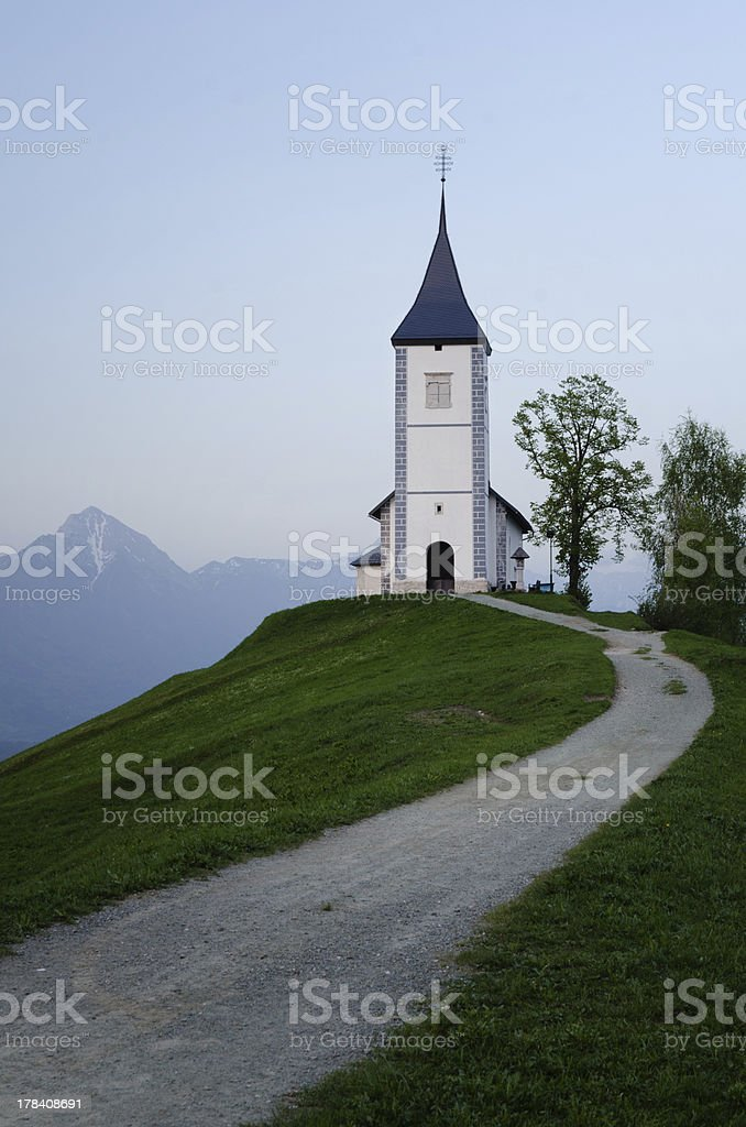 Church of St. Prim, Jamnik, Slovenia stock photo