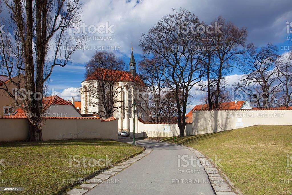 Church of St. Rochus in Prague Strahov Monastery. stock photo