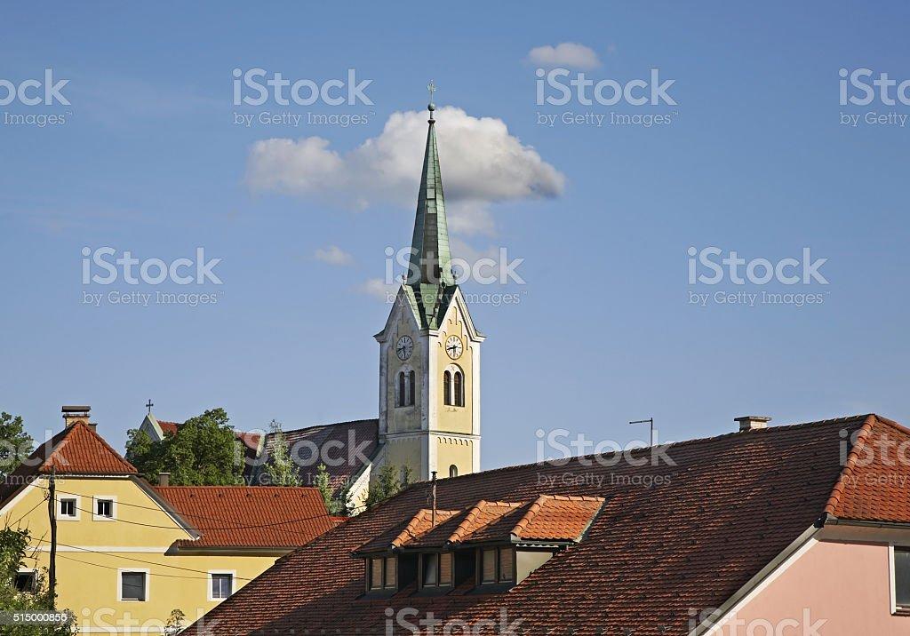 Church of St. Rupert in Krsko. Slovenia stock photo