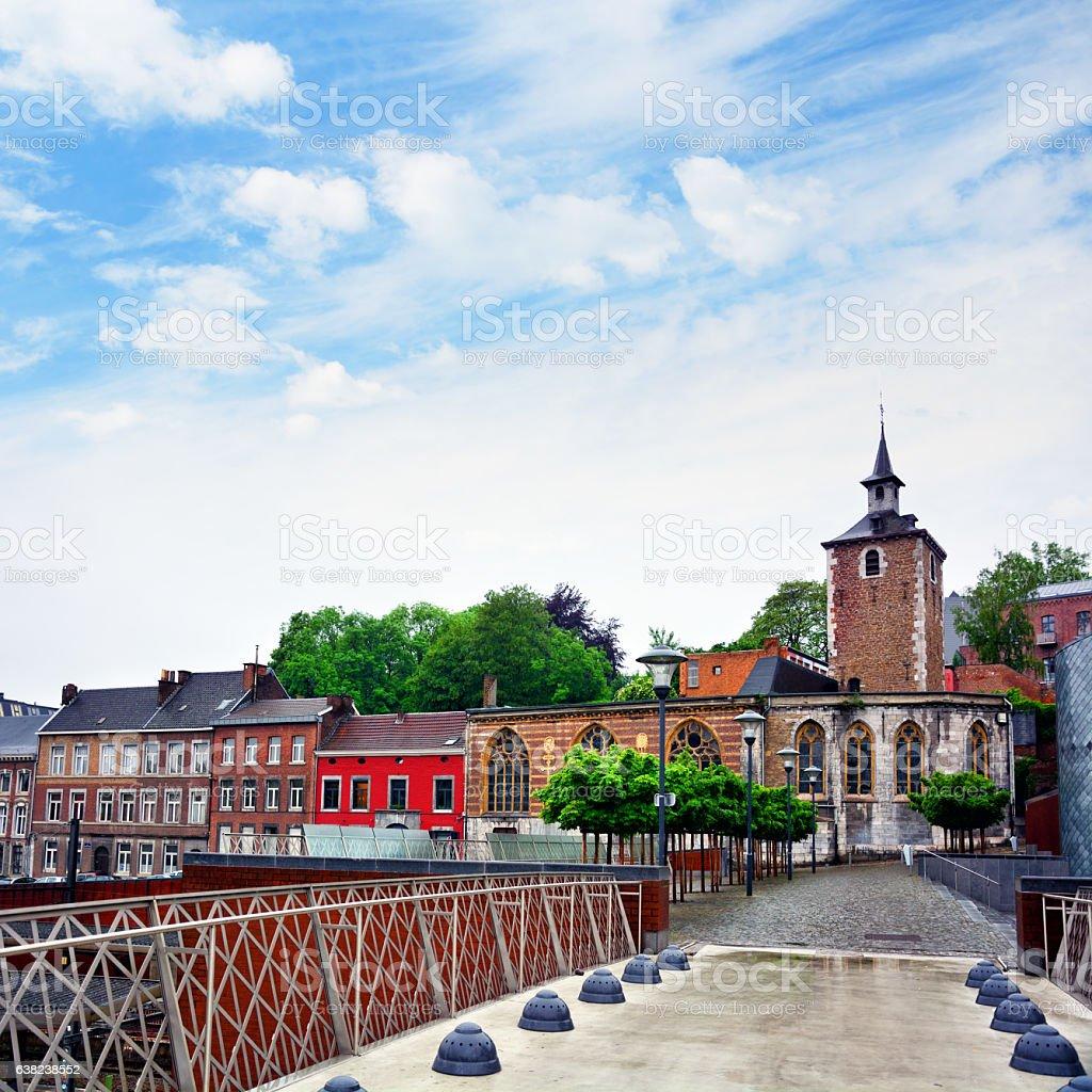 Church of St. Servais, Liege stock photo