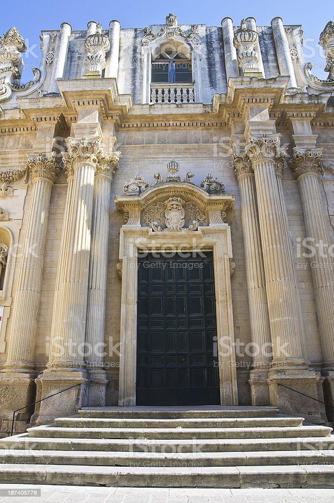 Church of St. Teresa. Lecce. Puglia. Italy. royalty-free stock photo