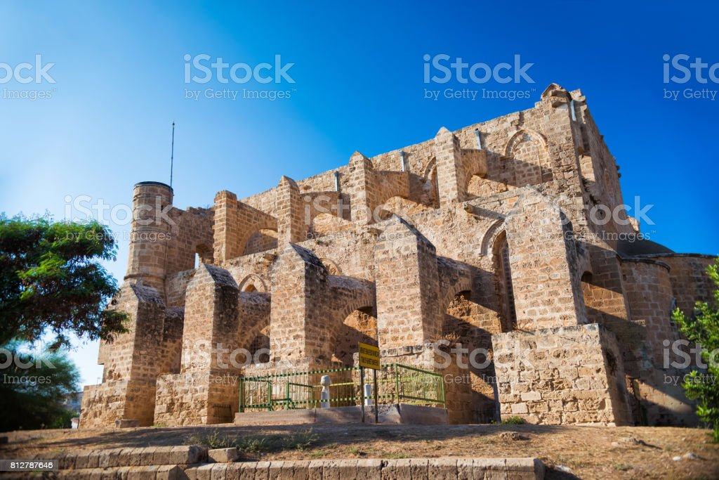 Church of Sts. Peter and Paul, renamed as the Sinan Pasha Mosque. Famagusta, Cyprus stock photo