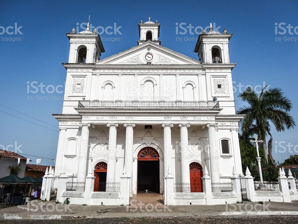 Church of Suchitoto, El Salvador stock photo