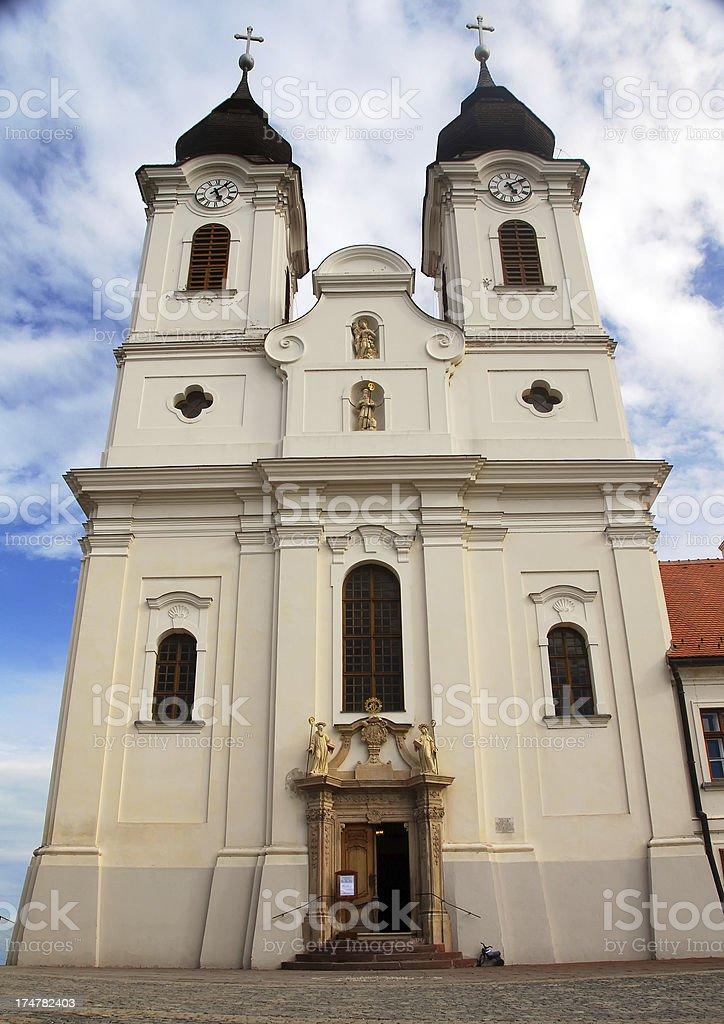 Church of the Abbey at Tihany, Hungary stock photo