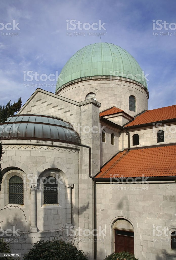 Church of the Annunciation of Virgin Mary in Opatija. Croatia stock photo