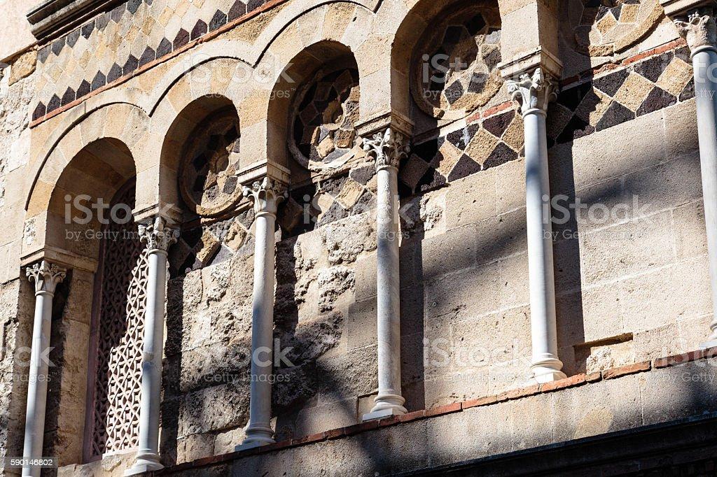 Church of the Annunziata dei Catalani stock photo