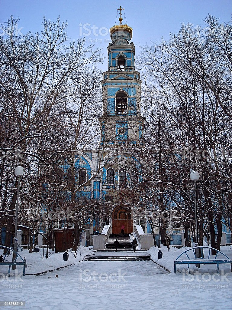 Church of the Ascension Yekaterinburg stock photo