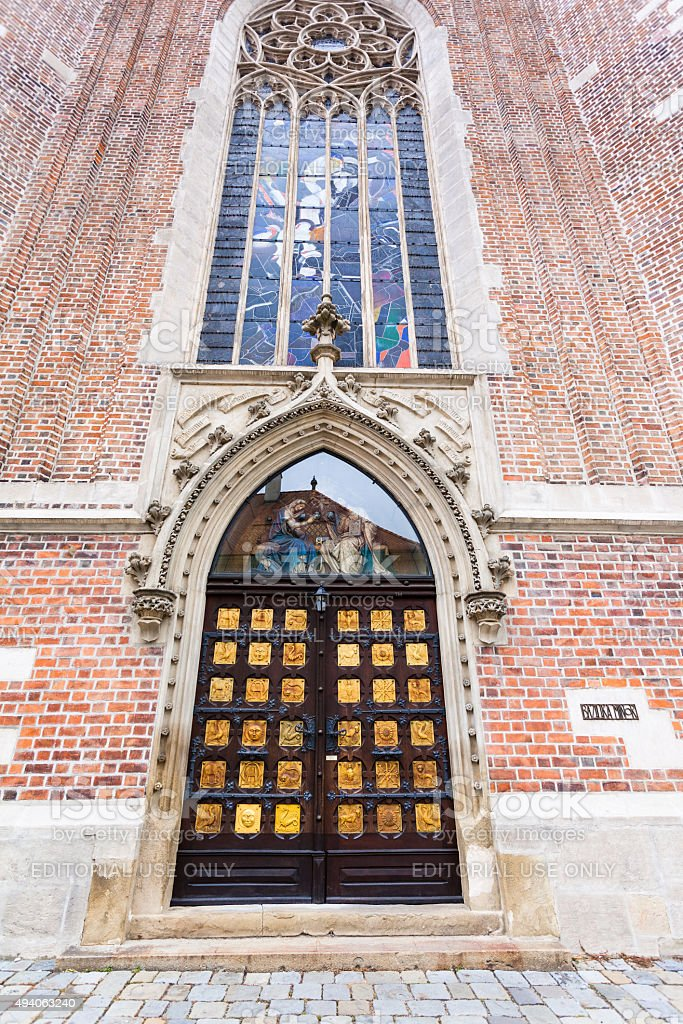 church of The Augustinian Abbey of St Thomas, Brno stock photo
