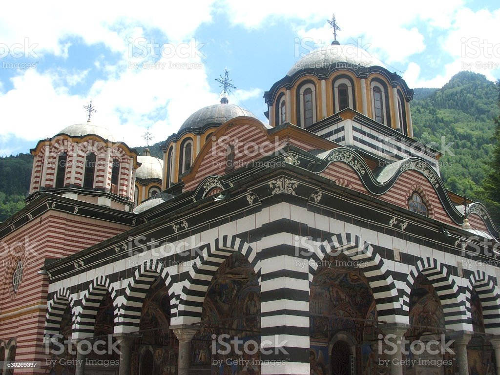 Church of the Biggest Bulgrian Monastery, Named Rilski stock photo