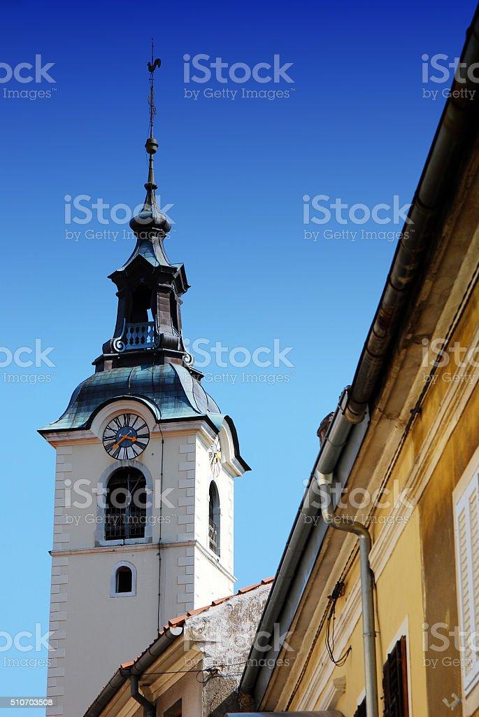 Church of the Blessed Virgin Mary  in Rijeka , Croatia stock photo