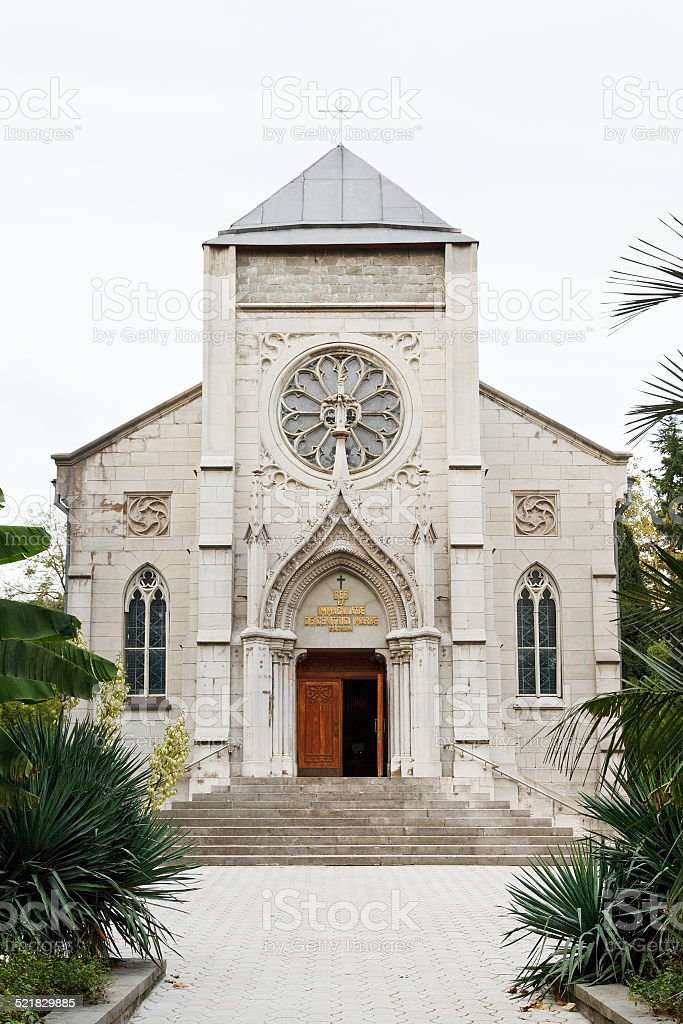 Church of the Blessed Virgin Mary in Yalta stock photo