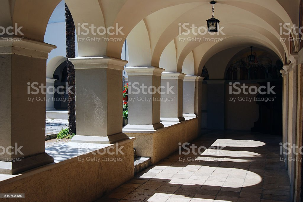 Church of the Blessed Virgin Mary on Trsat in Rijeka stock photo