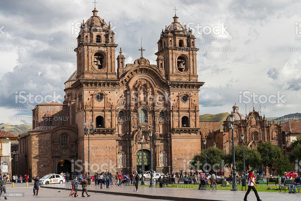 Iglesia de la Compañia de Jesus, Cusco (Cuzco), Perú. stock photo