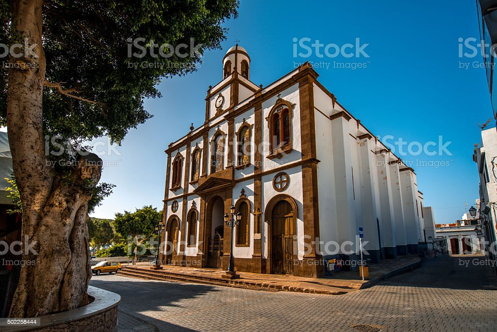 Church of the Concepcion in Agaete stock photo