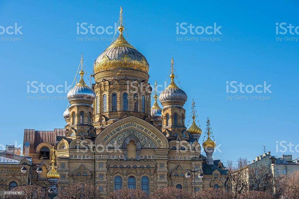 Church of the Dormition in Saint Petersburg, Russia stock photo