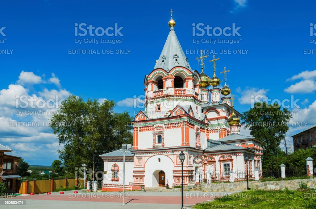 Church of the Epiphany in the town of Solikamsk stock photo