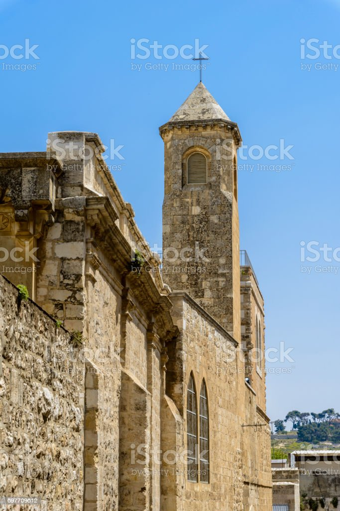 Church of the Flagellation in Jerusalem stock photo