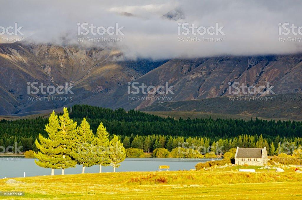 Church of the Good Shepherd 1 - Lake Tekapo stock photo
