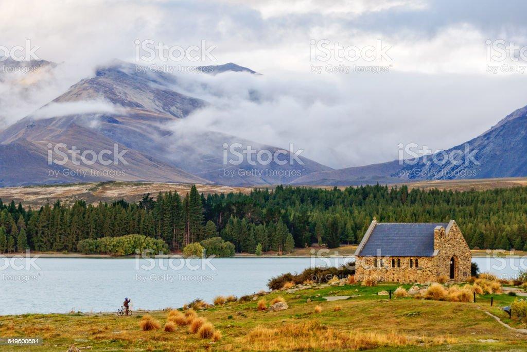 Church of the Good Shepherd 2 - Lake Tekapo stock photo