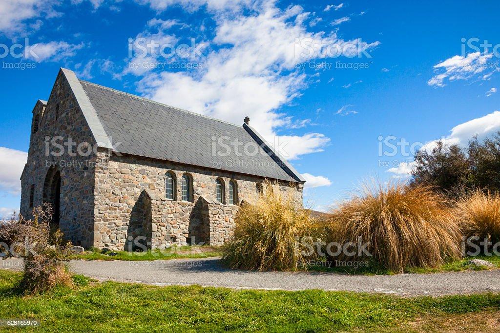 Church of the Good Shepherd at Lake Tekapo, New Zealand stock photo