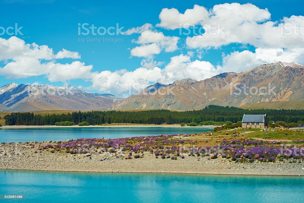 Church Of The Good Shepherd At Lake Tekapo stock photo