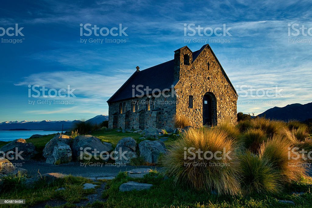 Church Of The Good Shepherd At Lake Tekapo stock photo