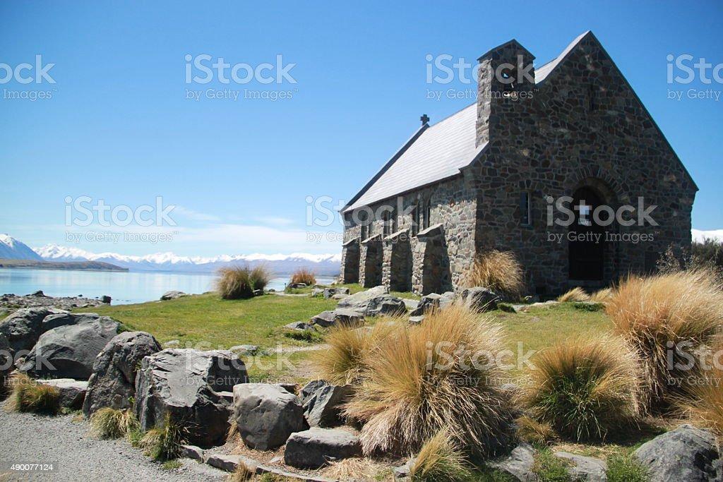 Church of the Good Shepherd beside Lake Tekapo stock photo