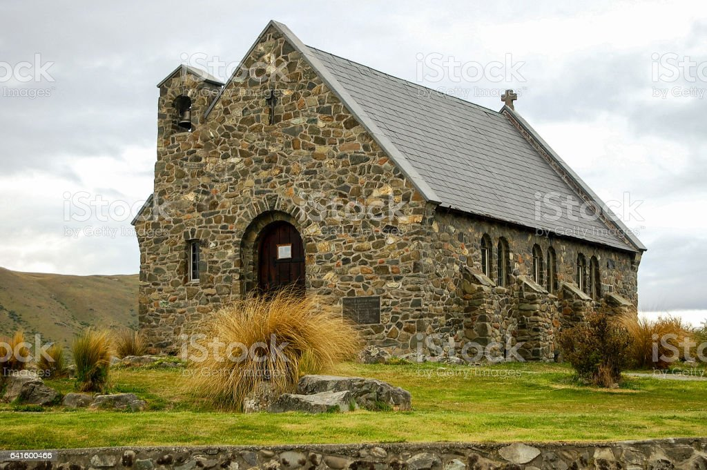 Church of the Good Shepherd - Lake Tekapo stock photo