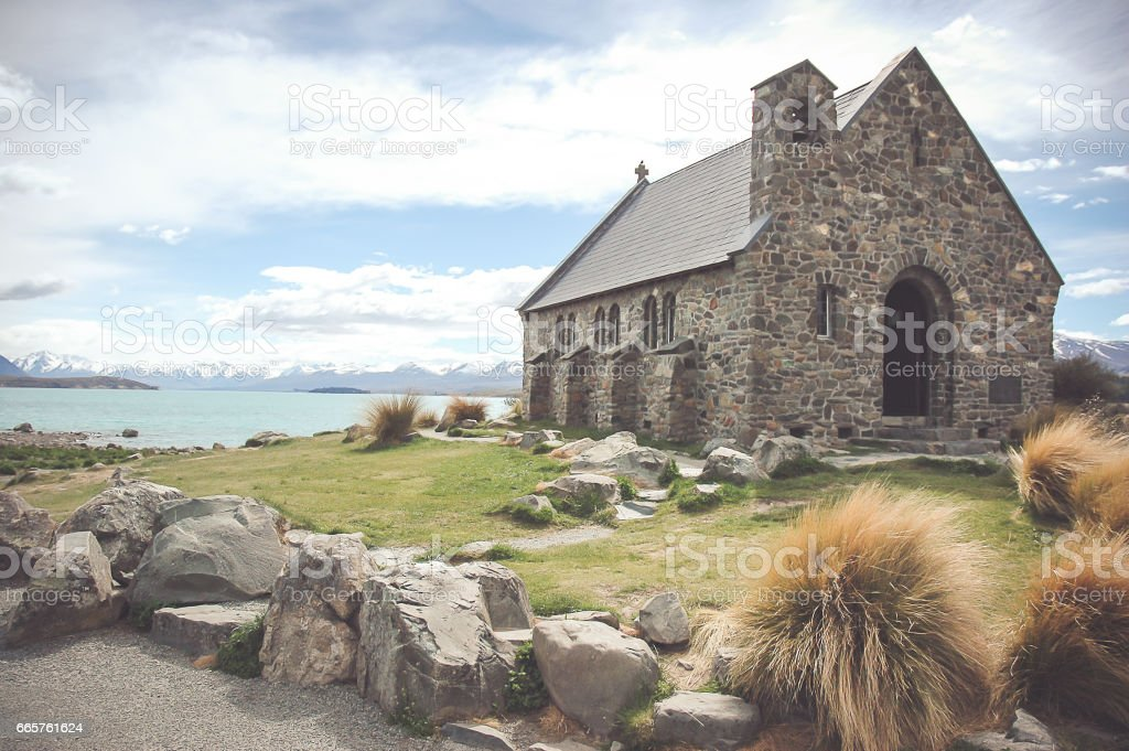 Church Of The Good Shepherd, Lake Tekapo stock photo