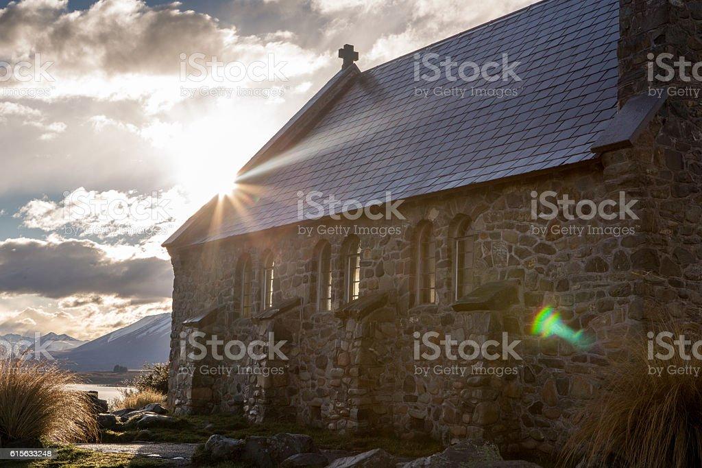 Church of the Good Shepherd, Tekapo, New Zealand stock photo
