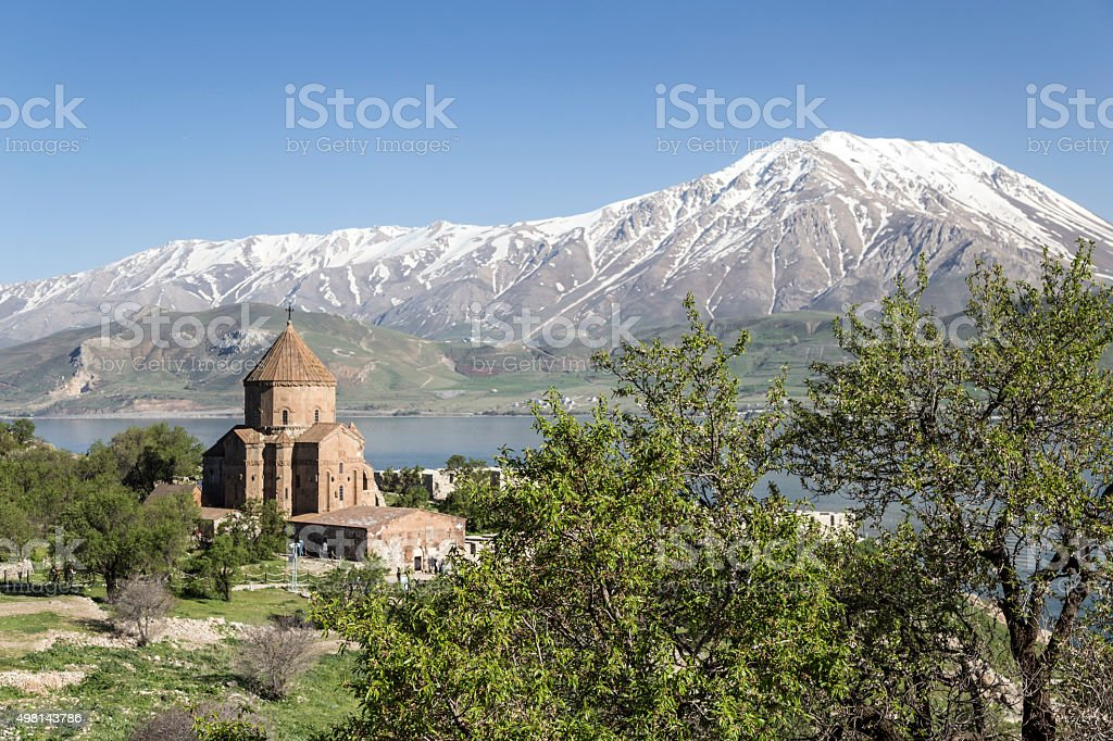 Church of the Holy Cross, Armenian cathedral in Turkey stock photo