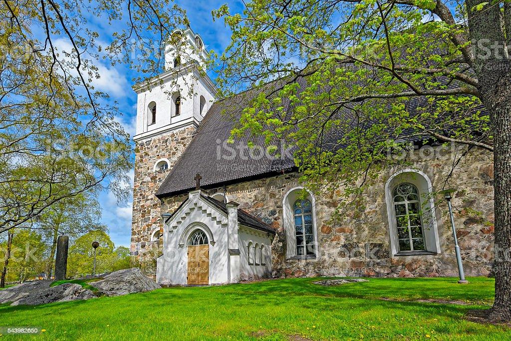 Church of The Holy Cross in Rauma, Finland stock photo