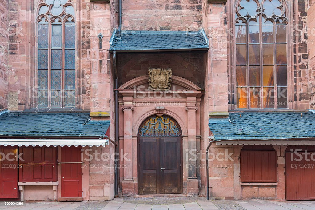 Church of the Holy Ghost or Heiliggeistkirche in Heidelberg stock photo
