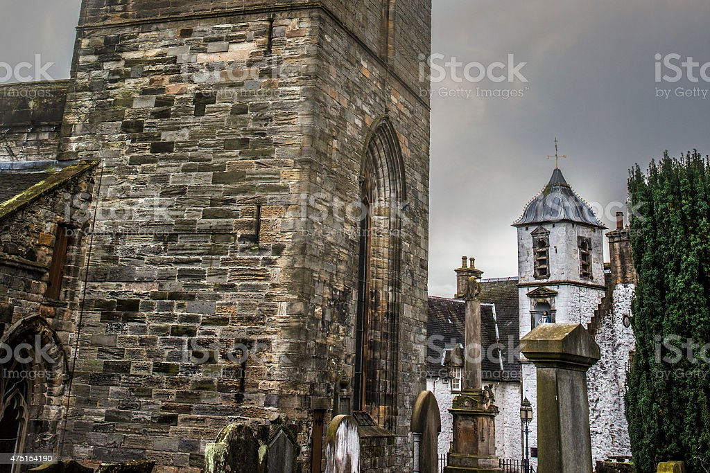 Church of the Holy Rude in Stirling Scotland stock photo