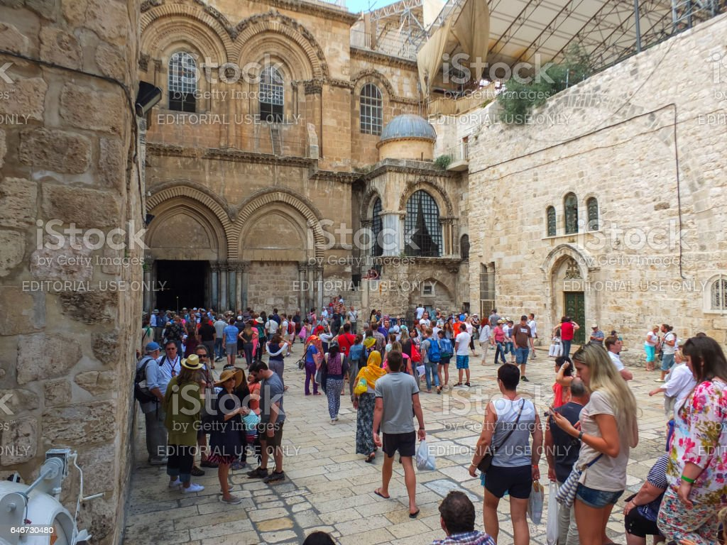 Church of the Holy Sepulchre in the Old city stock photo