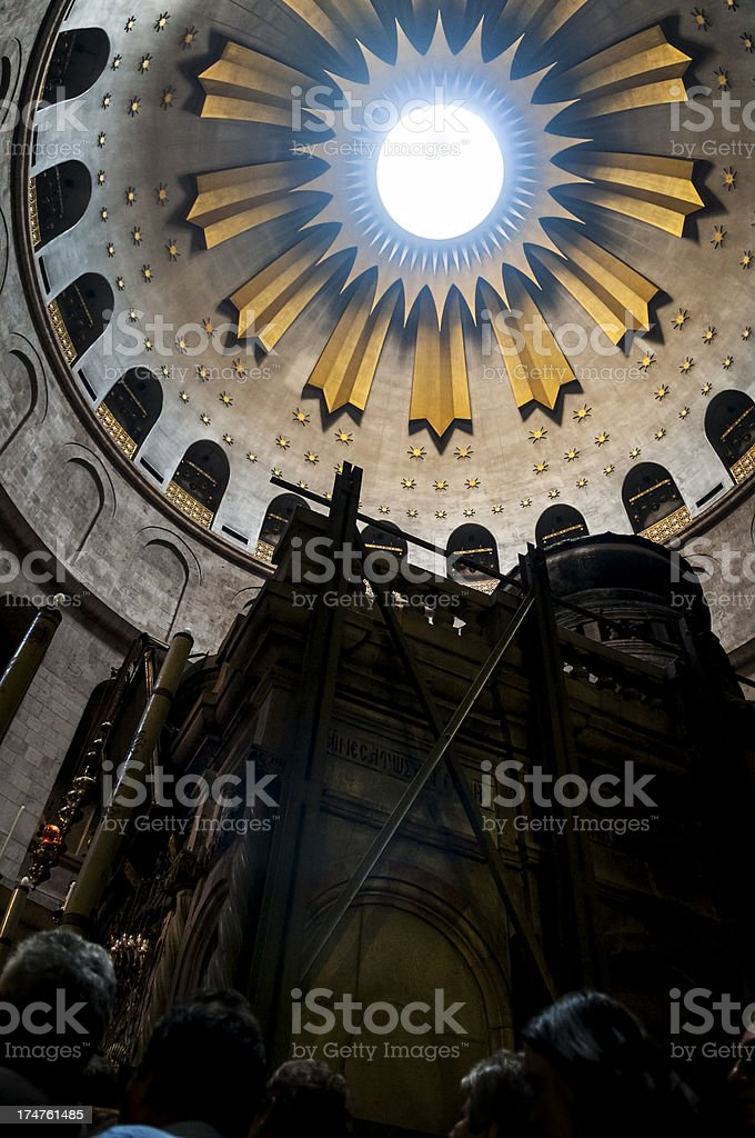 Church of the Holy Sepulchre interior royalty-free stock photo