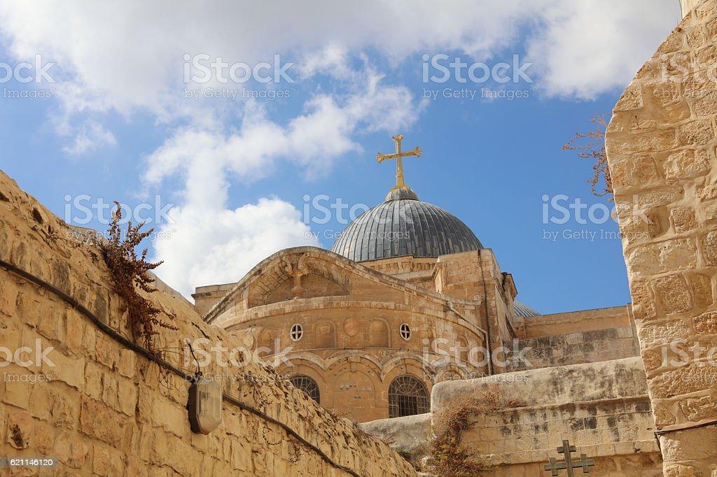 Church of the Holy Sepulchre. Jerusalem. Israel stock photo