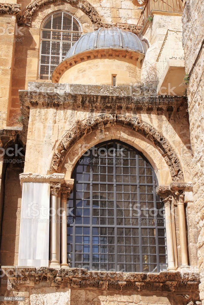 Church of the Holy Sepulchre - Jerusalem - Israel stock photo